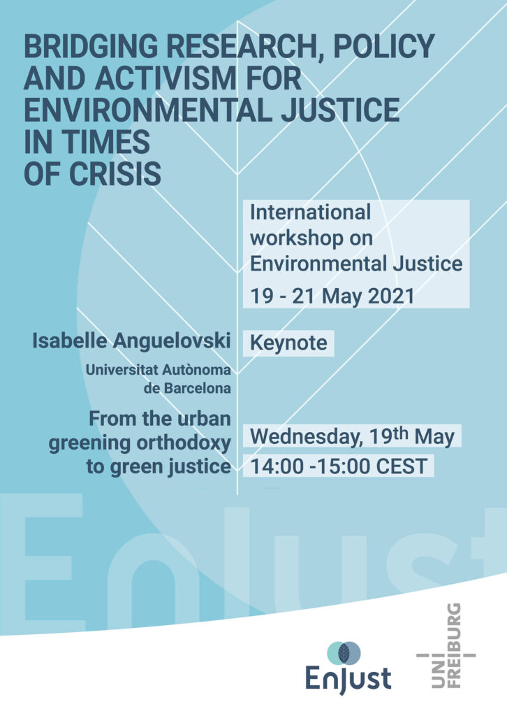 announcement keynote EnJust workshop 2021